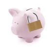 Financial insurance. Piggy bank with padlock