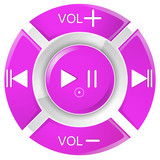 vector illustration of pink remote control buttons