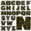 ABC Alphabet background printed circuit design