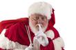 Santa being quiet