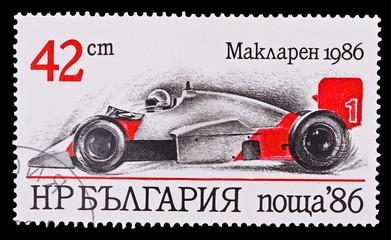 BULGARIA - CIRCA 1986:vintage car McLaren 1986, circa 1986