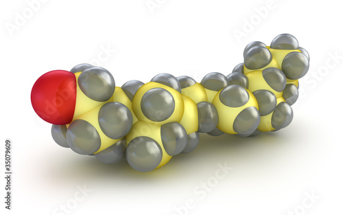 Cholesterol model , isolated on white