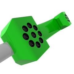 Cornetta telefonica verde