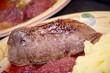 Magret de canard,figues rôties,écrasée de pommes de terre.