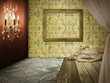 Fashion retro room interior design