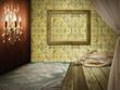 Fashion retro room interior design