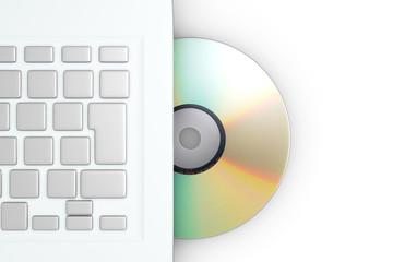 ノートPCとCD/DVD