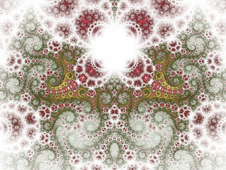 Beautiflu nature themed fractal pattern