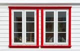 Windows in scandinavian house poster
