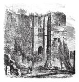 Cesar's tower at Kenilworth Castle, Warwickshire, United Kingdom
