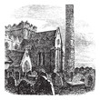 Cathedral of St. Canice, Kilkenny, Ireland vintage engraving