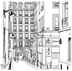 street near Montmartre in Paris