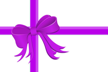 Present wrapped with silk ribbon