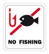 NO FISHING Schild