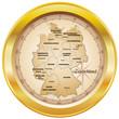 Deutschland Kompass gold