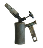 Old blowtorch on a white background. poster