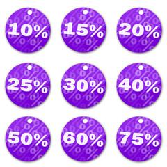 Sale tags (violet)