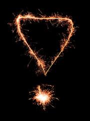 Exclamation mark .Real sparkler alphabet