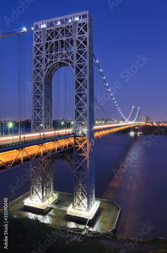 George Washington Bridge Connecting New Jersey and New York City