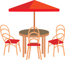 Summer street cafe. vector, white background