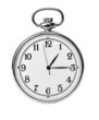 Antique pocket watch isolated on white