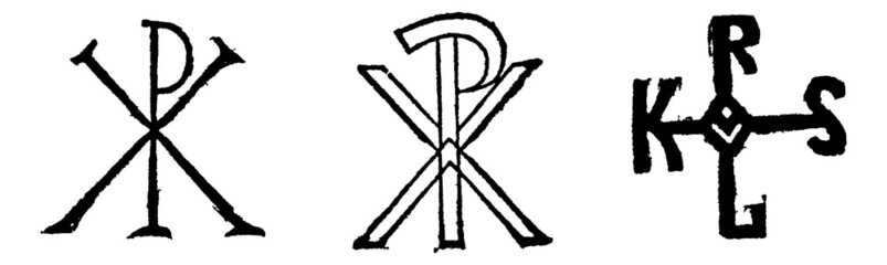 Monogram of Christ, by century and Monogram of charlemagne, vint