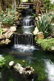 Fototapety waterfall with pond