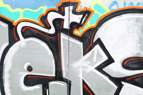 Graffiti fragment background