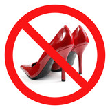 Crossed Red High-heel Shoes Sign