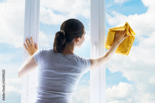 washing windows