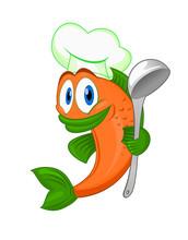 Cuisinier humoristique tableaux sur toile tableaux et - Dessin cuisinier humoristique ...