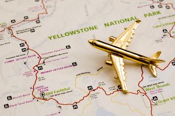 Plane Over Yellowstone