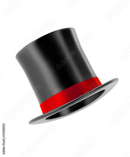 magic hat isolated on white background