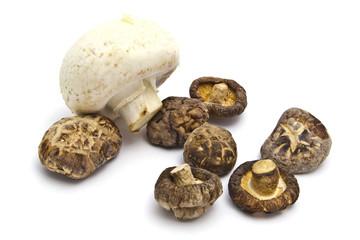 Dried and fresh mushroom