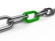 3d chain chrome green