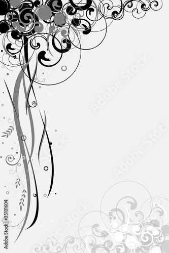 Illustration: Abstract Floral motif for background or wallpaper