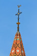 Leinwanddruck Bild - Rooster and Cross on top of Church