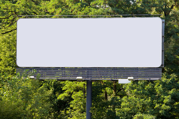 Billboard in Forest