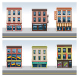 Fototapety Vector city buildings icon set