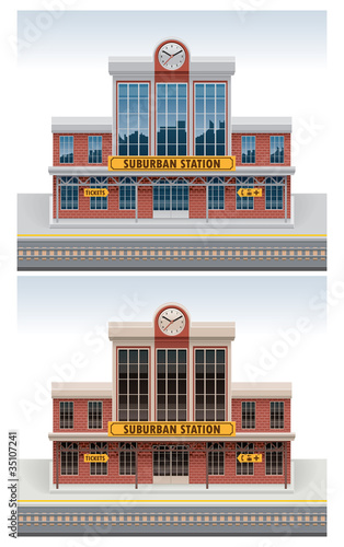Vector railway station icon