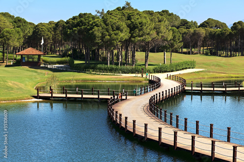 Leinwandbild Motiv Area of Sueno Golf Club.