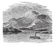 Loch Lomond on Highland Boundary Fault Scotland vintage engravin