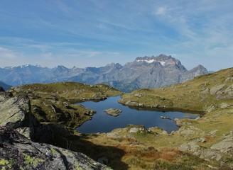 Bergsee in den glarner Alpen
