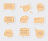 Hand-Drawn Speech Bubbles Sketchy Doodles poster