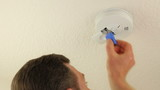 Changing Replacing Fire Alarm Smoke Detector Battery