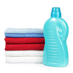 Towels and liquid laundry detergent