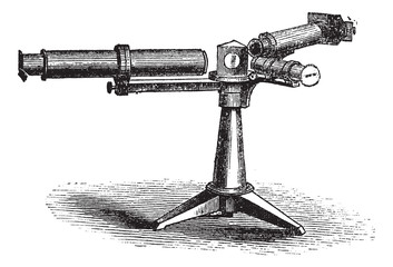 Spectroscope or Spectrometer vintage engraving