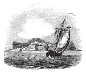 Staffa in Argyll and Bute Scotland vintage engraving