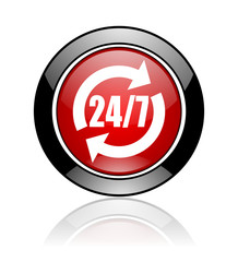 24 for 7 web icon
