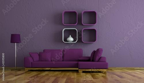 wohndesign sofa lila by virtua73 royalty free stock photos 35115800 on. Black Bedroom Furniture Sets. Home Design Ideas